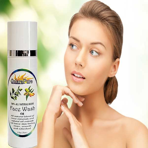 SolaraPure All Natural Face Wash for Normal to Oily Skin