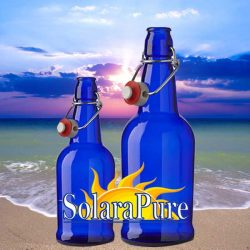 Blue Solar Water Bottles